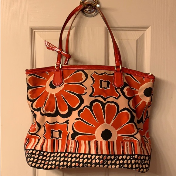 Coach Handbags - Coach flowered purse